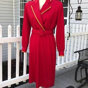 Henry Lee Vintage Military Style Dress